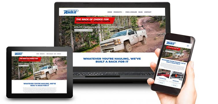 WEBSITE DESIGN AND DEVELOPMENT: Rack-it Inc