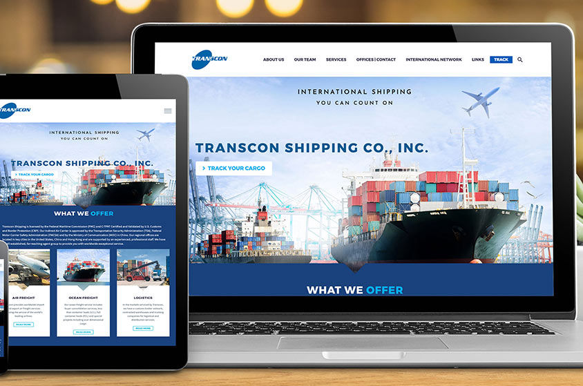 WEBSITE DESIGN AND DEVELOPMENT: TRANSCON SHIPPING CO., INC.