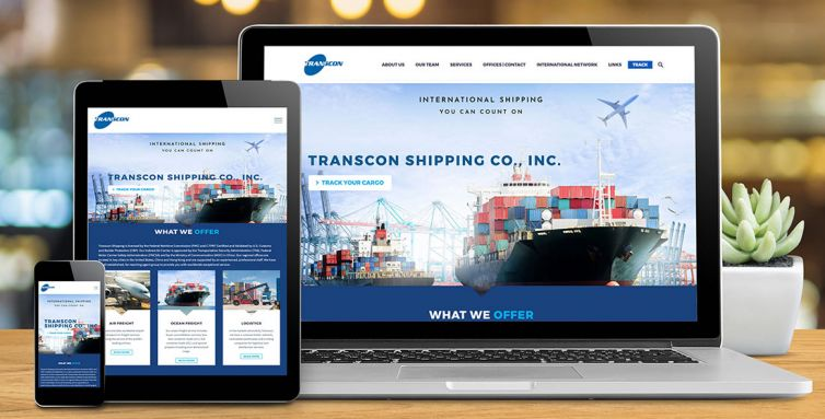 WEBSITE DESIGN AND DEVELOPMENT: TRANSCON SHIPPING CO., INC.